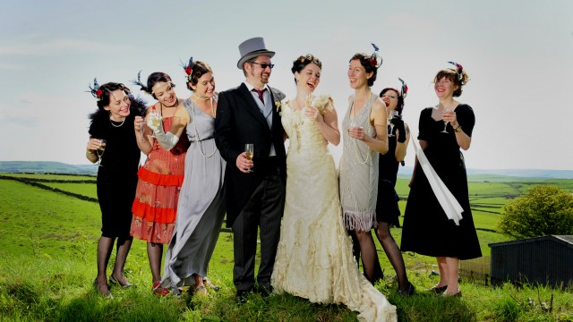 A wedding of two halves