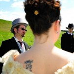 image of a wedding at Hulmes Vale Farm